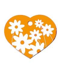 Namnbricka Hjärta Blommor