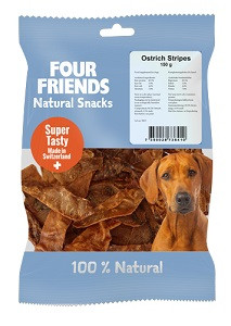 Four Friends Natural Snacks Ostrich Stripes
