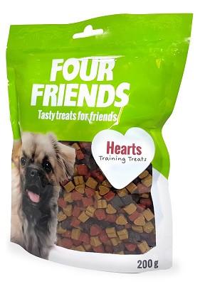 Four Friends Training Treats Hearts
