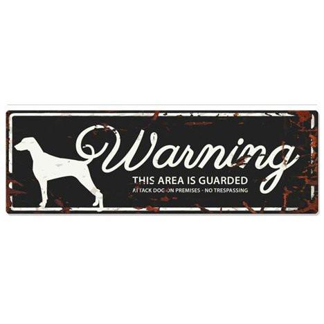 Warning Liggande Skylt Svart Dalamatin