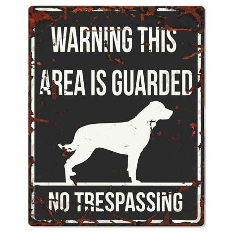 Warning Liggande Skylt Svart rottweiler