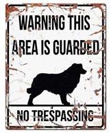 Warning Skylt Vit Bordercollie