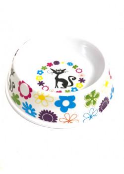 Matskål Flower Cat