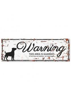 Warning Liggande Skylt Vit JRT