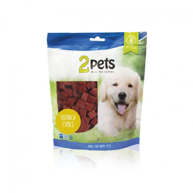 Dogsnack Ostrich Cubes