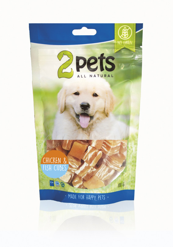 Dogsnack Chicken/Fish Cubes