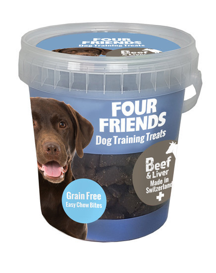 Four Friends Training Treats Beef and Liver