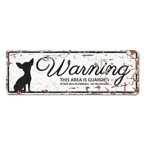 Warning Liten Skylt Vit