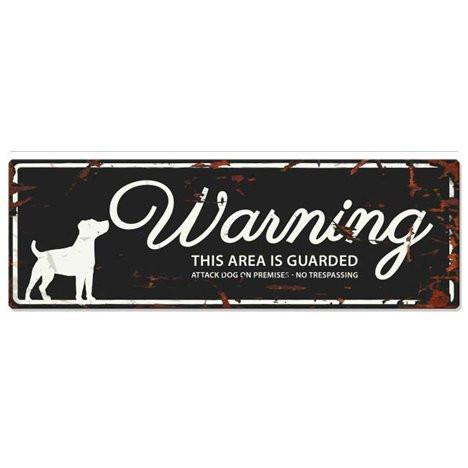 Warning Liggande Skylt Svart JRT
