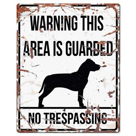 Warning Skylt Vit Staffe