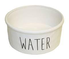 KERAMIKSKÅL WATER VIT